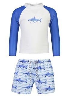Snapper Rock Shark Two-Piece Rashguard Swimsuit (Baby)