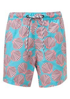 Snapper Rock Shell Print Swim Trunks (Toddler Boys & Little Boys)