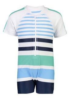 Snapper Rock Stripe One-Piece Rashguard Swimsuit (Baby)
