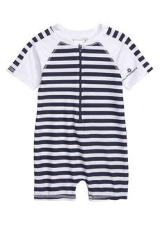Snapper Rock Stripe One-Piece Rashguard Swimsuit (Baby Boys)