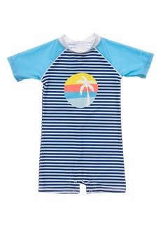 Snapper Rock Sunset Stripe One-Piece Rashguard Swimsuit (Baby)