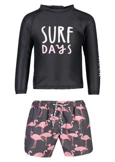 Snapper Rock Surf Days Two-Piece Rashguard Swimsuit (Baby)