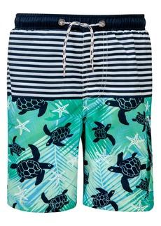 Snapper Rock Turtle Swim Trunks (Toddler Boys, Little Boys & Big Boys)