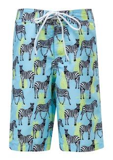 Snapper Rock Zebra Crossing True Board Shorts (Toddler Boys, Little Boys & Big Boys)