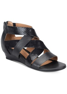 Sofft Rosaria Mixed-Media Wedge Sandals Women's Shoes