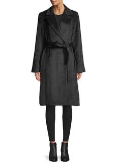 Sofia Cashmere Belted Baby Suri Alpaca & Wool-Blend Wrap Coat