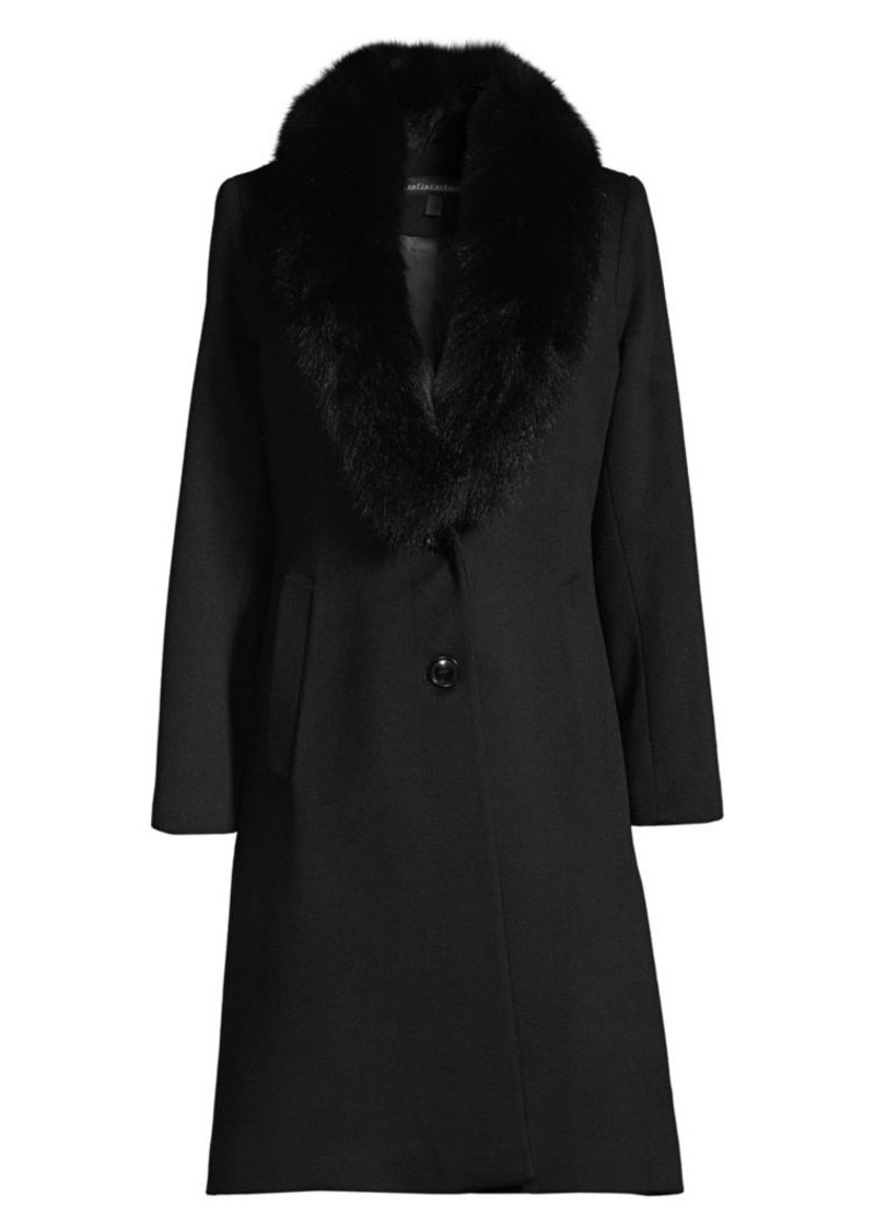 Sofia Cashmere Fox Fur Collar Jacket