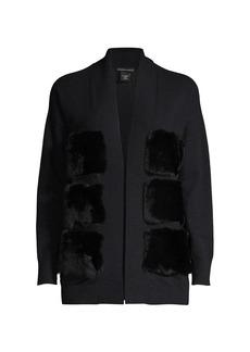 Sofia Cashmere Fur Front Cashmere Cardigan