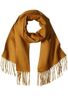 Sofia Cashmere Women's 100% Cashmere Woven Scarf with Fringe