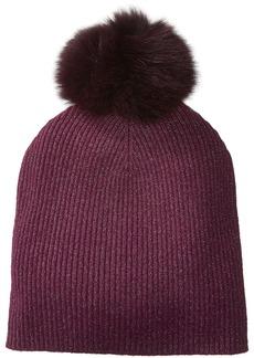 Sofia Cashmere Women's Cashmere Fur Pom Hat-Slouchy  ONE