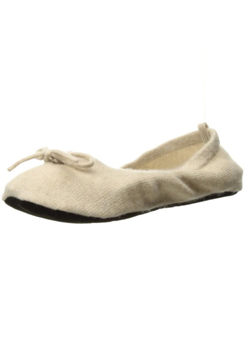 Sofia Cashmere Women's Cashmere Travel Set-Ballet Slippers oatmeal + ivory Large/X-Large