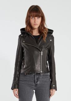 Soia & Kyo Allison Moto Leather Hooded Jacket - XL - Also in: XXL, XS