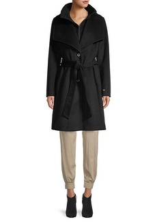 Soia & Kyo Belted Storm-Placket Coat