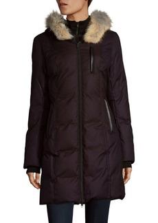 Soia & Kyo Coyote Fur-Trimmed Puffer Coat