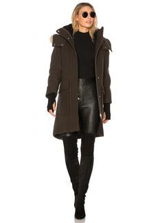 Soia & Kyo Karine Coyote Fur Trimmed Wool Coat