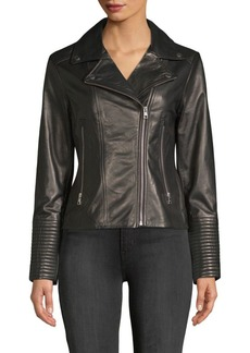 Soia & Kyo Leather Moto Jacket