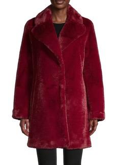 Soia & Kyo Notch Lapel Faux Fur Coat