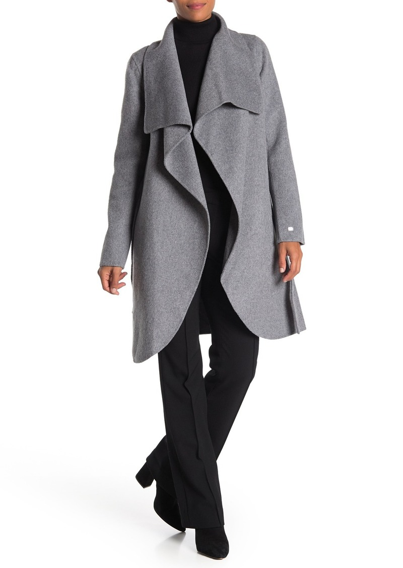 Soia & Kyo Open Front Wool Blend Coat