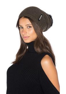Soia & Kyo Caddie Hat with Fox Fur Pompom
