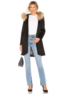 Soia & Kyo Charlena Coat With Fur Collar
