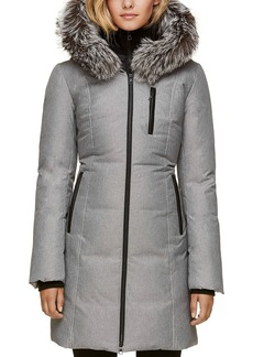 Soia & Kyo Fox Fur Trim Down Coat
