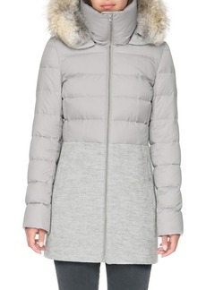 Soia & Kyo Fur-Trim Hooded Puffer Coat