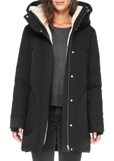 Soia & Kyo Fur-Trimmed Zip-Front Jacket