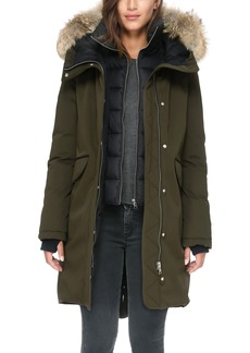 Soia & Kyo Genuine Coyote Fur Hooded Down Parka