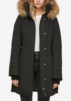 Soia & Kyo Hooded Fur-Trim Coat