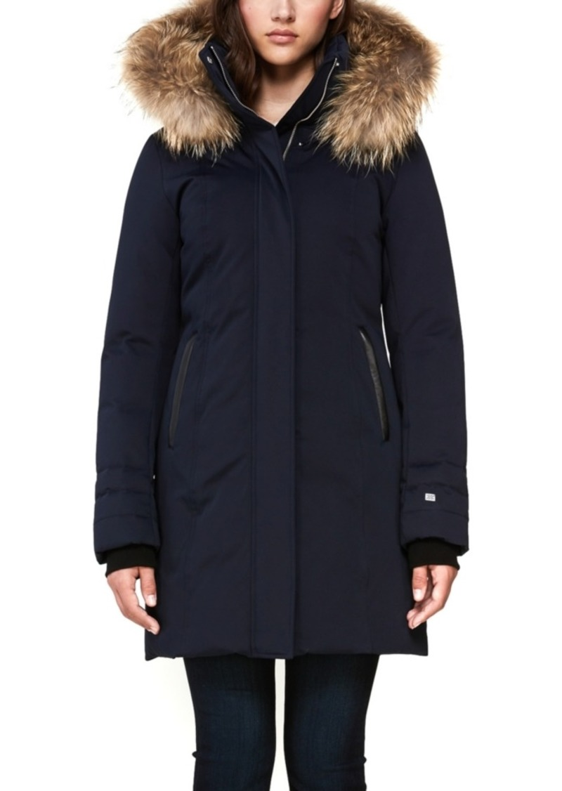 Soia & Kyo Hooded Fur-Trim Down Coat, Created for Macy's