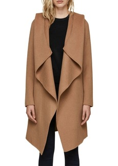 Soia & Kyo Hooded Wool-Blend Wrap Coat