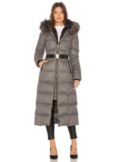 Soia & Kyo Mariana Long Puffer Coat in Gray. - size XS (also in L,M,S)