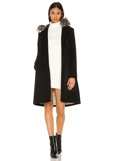 Soia & Kyo Pauline Coat with Fox Fur Collar