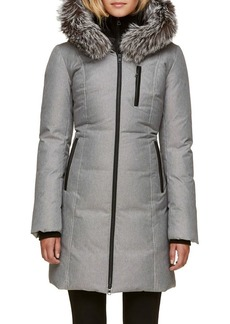 Soia & Kyo Quilted Christy Jacket with Silver Fox Fur Hood