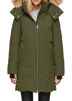 Soia & Kyo Quilted Zoelane Jacket with Coyote Fur Trim Hood