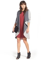 Soia & Kyo Reversible Double Face Hooded Wrap Jacket