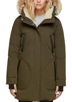 Soia & Kyo Saundra Fur Trim Hooded Down Coat