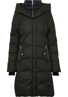 Soia & Kyo Woman Delfina Quilted Shell Down Hooded Coat Black