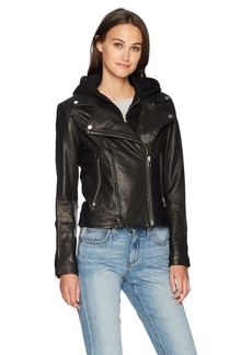 Soia & Kyo Women's Allison Leather Moto Jacket  XS