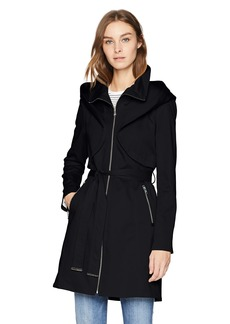 Soia & Kyo Women's Arabella Stretch Cotton Trench Coat with Hood  L