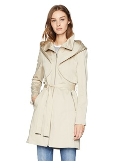 Soia & Kyo Women's Arabella Stretch Cotton Trench Coat with Hood  M