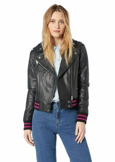 Soia & Kyo Women's Arisa Bomber Fit Leather Jacket  XS