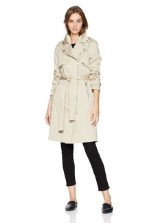 Soia & Kyo Women's Athena Stretch Cotton Trench Coat with Tie Closure  M