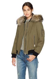 Soia & Kyo Women's Branca-r Denim Bomber Jacket  L