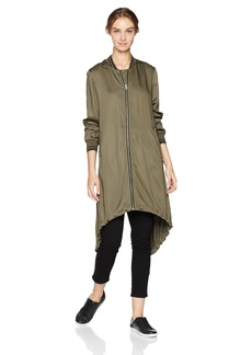 Soia & Kyo Women's Bristol Long Bomber Duster Jacket  L