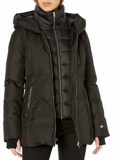 Soia & Kyo Women's FANNIA Ladies Hooded Down Coat  M