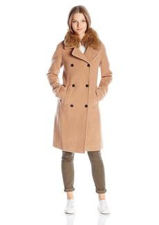 Soia & Kyo Women's Farrah-f6 Lux Wool Coat with Racoon Fur Collar
