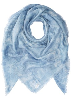 Soia & Kyo Women's Nisha Lightweight Square Woven Frayed Edge Scarf sky