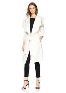 Soia & Kyo Women's Ornella Drapy Trench Coat  XS
