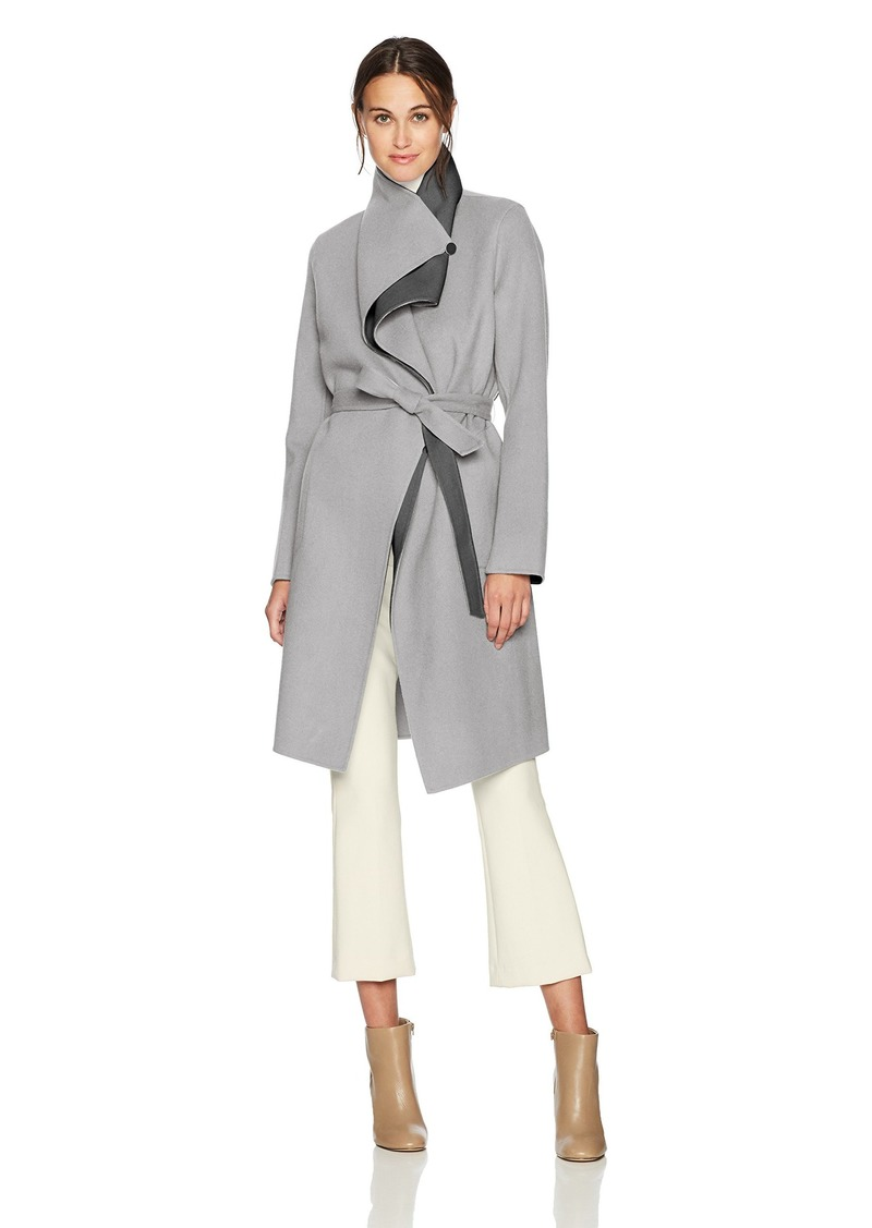Soia & Kyo Women's Oxana-rv Double Face Wool Jacket ash M